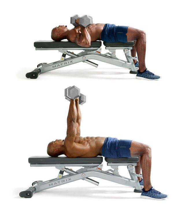 Mancuernas ejercicios para pecho en el Gym