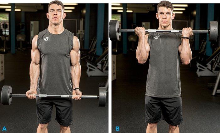 Los 5 mejores ejercicios de bíceps curl en barra